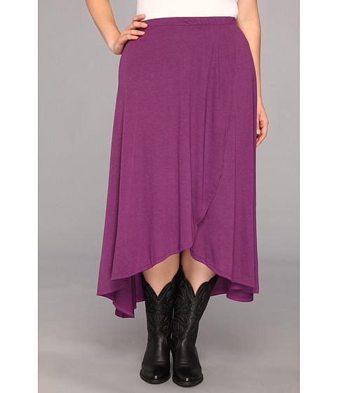 Fuste Roper - Plus Size Rayon Jersey Maxi Skirt - Purple