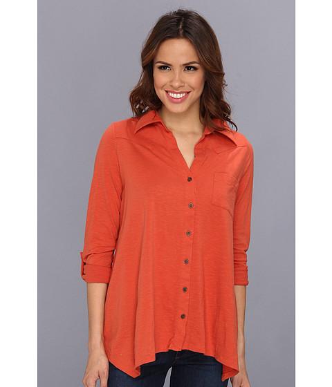 Bluze Roper - Viscose Blouse W/Rollable Sleeves - Orange