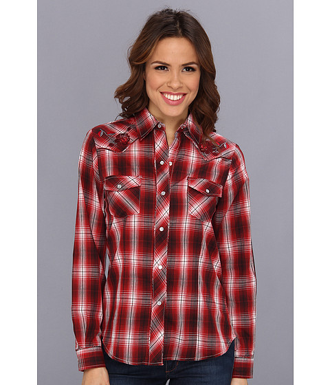 Camasi Roper - 8860 Red Ombre Plaid - Red