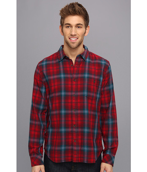 Camasi 7 For All Mankind - Plaid One-Pocket Shirt - Oxford Blood