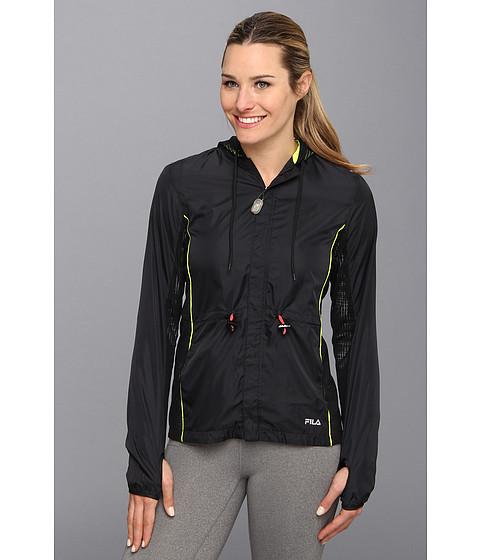 Bluze Fila - Lacy Wind Jacket - Black/Safety Yellow/Diva Pink