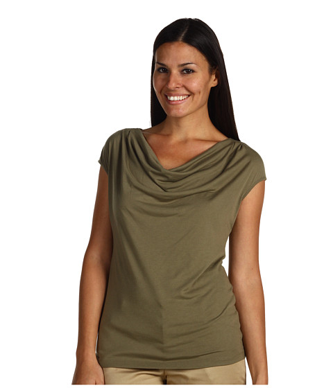 Bluze NIC+ZOE - Drape Neck Top - Bay Leaf