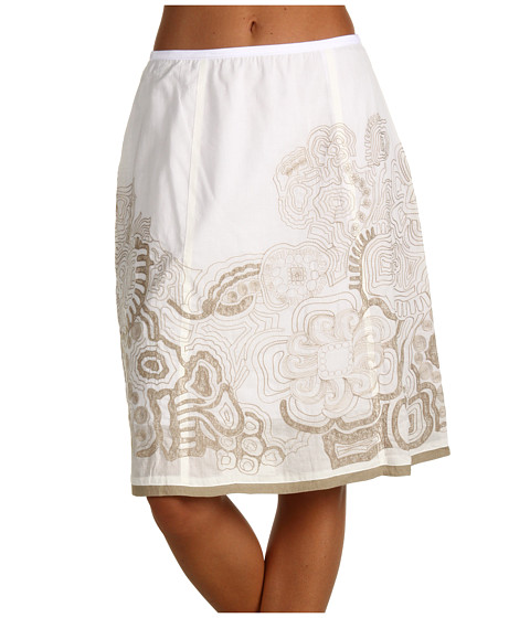 Fuste NIC+ZOE - Embroidered Short Skirt - Milk White