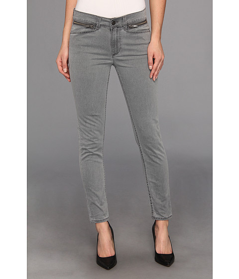 Blugi Calvin Klein - Zip Pocket Mid Rise Ankle Skinny in Ebony - Ebony