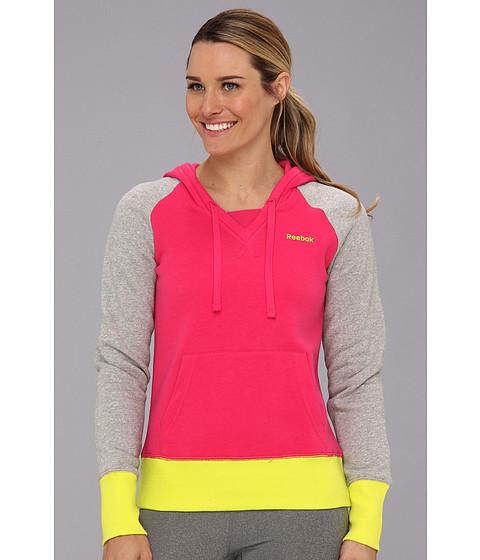 Bluze Reebok - Fleece Brush Back Hoodie - Candy Pink/Medium Grey Heather