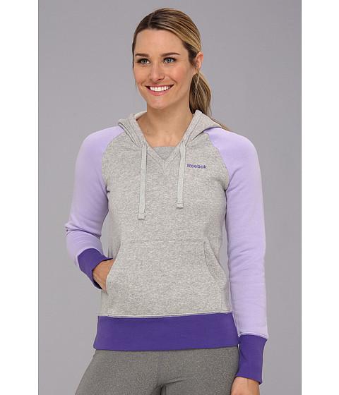 Bluze Reebok - Fleece Brush Back Hoodie - Medium Grey Heather/Crisp Purple