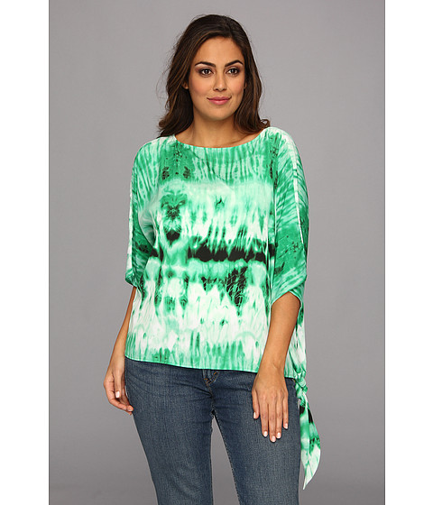 Bluze MICHAEL Michael Kors - Plus Size Arabesque Sidetie Top - Spring Green