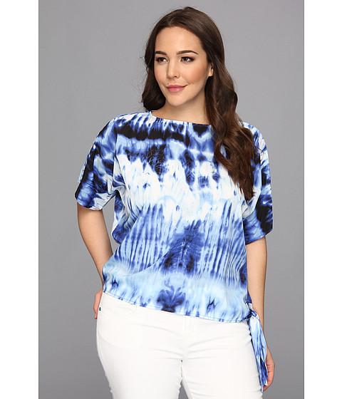 Bluze MICHAEL Michael Kors - Plus Size Arabesque Sidetie Top - Amalfi Blue