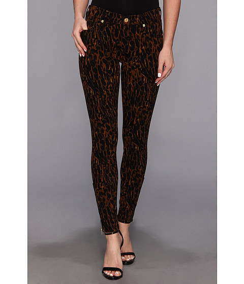 Blugi 7 For All Mankind - Skinny w/ Ankl Zip in Leopard Sateen - Leopard Sateen