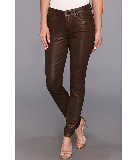 Blugi 7 For All Mankind - The Skinny w/ Contoured Waistband in Brown Suede Grey - Brown Suede Grey