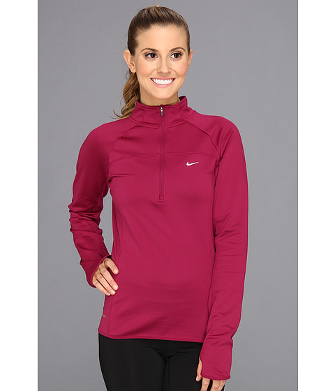 Bluze Nike - Thermal Half-Zip - Raspberry Red/Reflective Silver