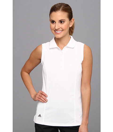 Bluze adidas - Solid Jersey Sleeveless Polo \14 - White/Black