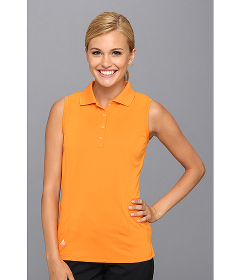 Bluze adidas - Solid Jersey Sleeveless Polo \14 - Light Orange/White