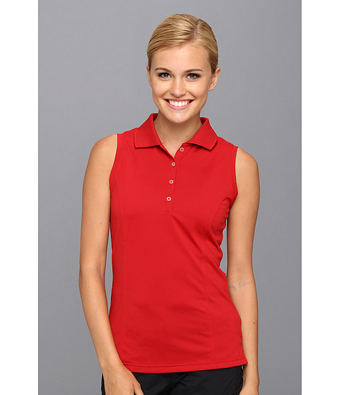 Bluze adidas - Solid Jersey Sleeveless Polo \14 - University Red/Black