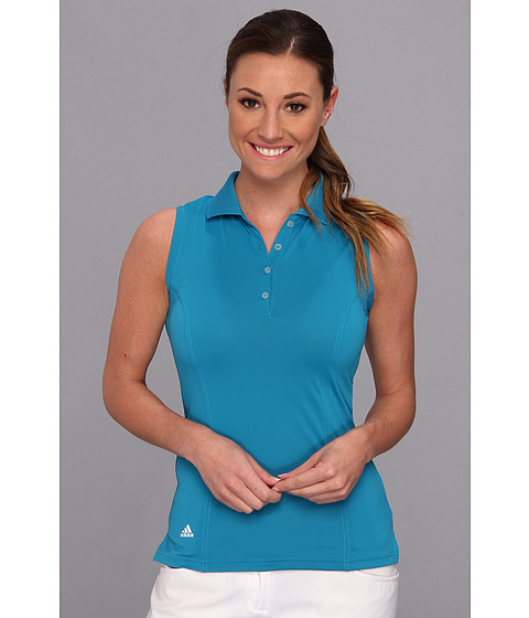 Bluze adidas - Solid Jersey Sleeveless Polo \14 - Teal/White