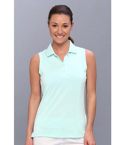 Bluze adidas - Solid Jersey Sleeveless Polo \14 - Fresh Green/White