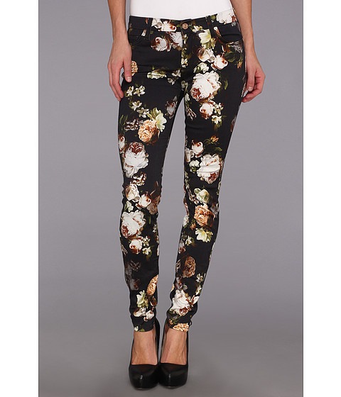 Blugi 7 For All Mankind - The Skinny w/ Contoured Waistband in Night Time Floral - Night Time Floral