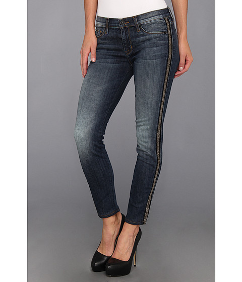 Blugi Hudson - Luna Crop Super Skinny w/ Stripe Beads in Glam - Glam