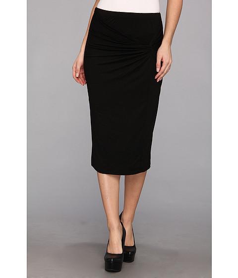 Fuste Three Dots - Twist Front Pencil Skirt - Black