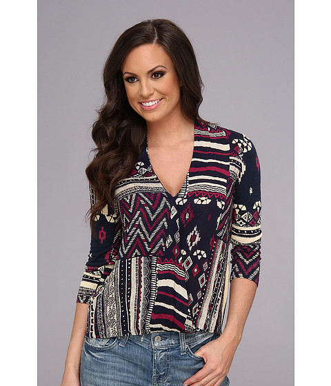 Bluze Lucky Brand - Patchwork Print Top - Multi