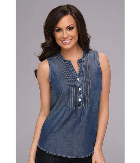 Bluze Lucky Brand - Pintuck Chambray Tank - Mojave