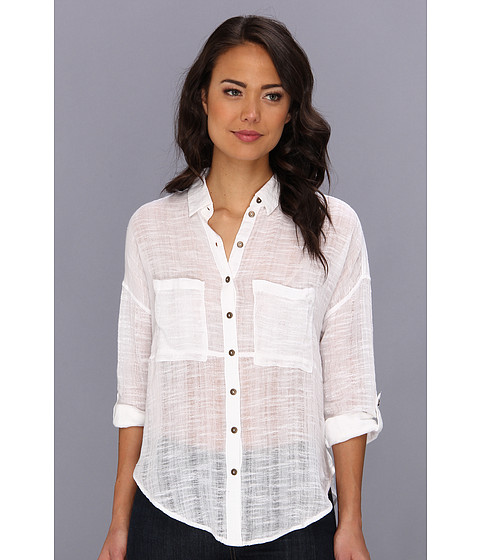 Bluze Free People - Shibori Sire Button Down Shirt - White