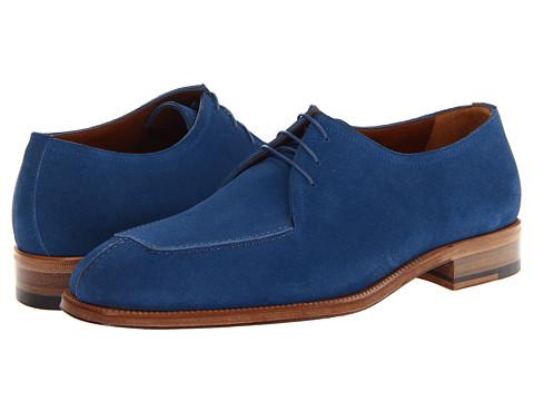 Pantofi A. Testoni - Casual Suede Apron Toe Oxford - Blue