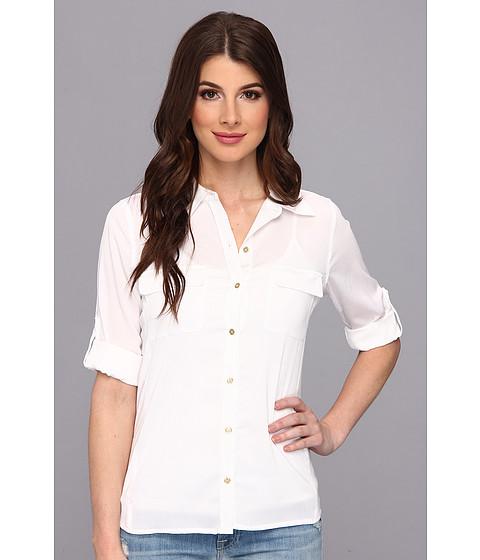 Bluze Calvin Klein - Rib Knit Blouse - Soft White
