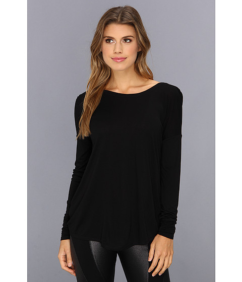 "Bluze BCBGMAXAZRIA - ""Dae\"" Long Sleeve Top With Back Twist - Black"