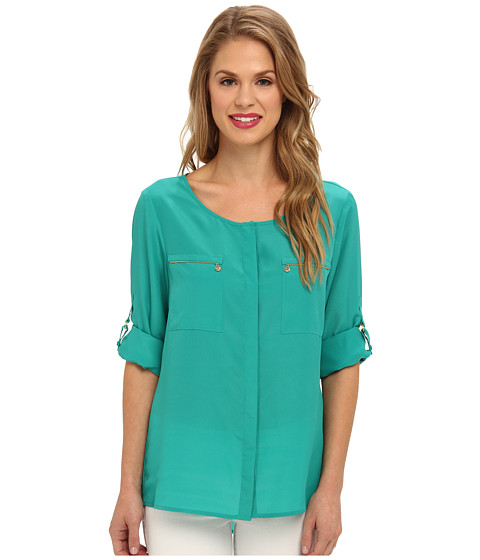 Bluze Anne Klein New York - Roll Sleeve Shirt - Jade