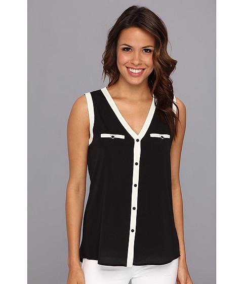 Bluze Anne Klein New York - S/L Shell w/ Contrast Trim - Black
