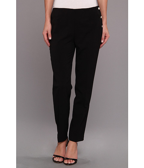 Pantaloni Calvin Klein - Lux Stretch Side Snap Pant - Black
