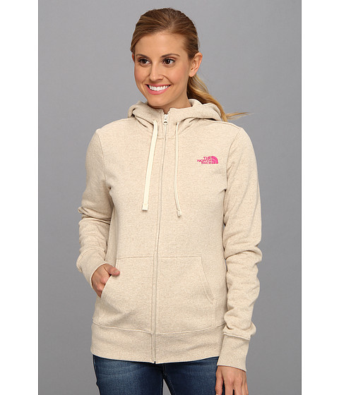 Bluze The North Face - EMB Logo Full Zip Hoodie - Oatmeal Heather/Azalea Pink