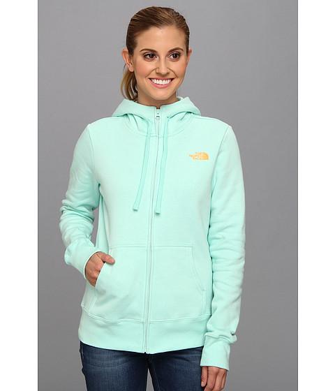 Bluze The North Face - EMB Logo Full Zip Hoodie - Beach Glass Green/Vitamin C Orange