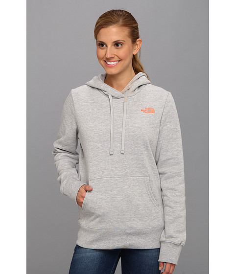 Bluze The North Face - EMB Logo Pullover Hoodie - Heather Grey/Miami Orange
