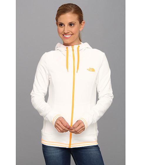 Bluze The North Face - Logo Stretch Full Zip Hoodie - TNF White/Vitamin C Orange