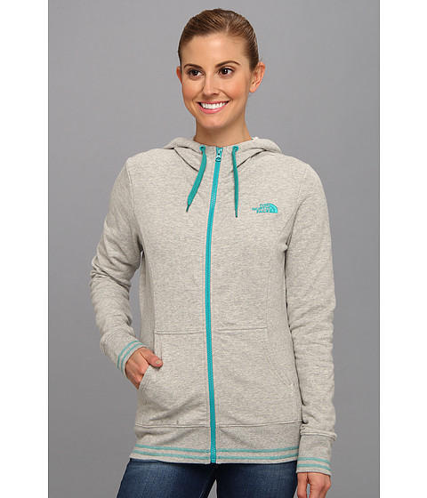 Bluze The North Face - Logo Stretch Full Zip Hoodie - Heather Grey/Jaiden Green