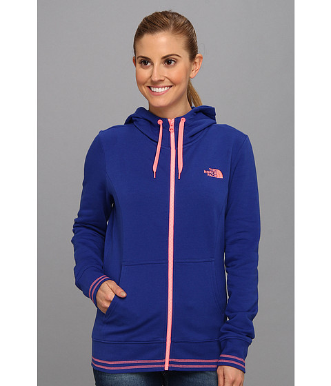Bluze The North Face - Logo Stretch Full Zip Hoodie - Marker Blue/Sugary Pink