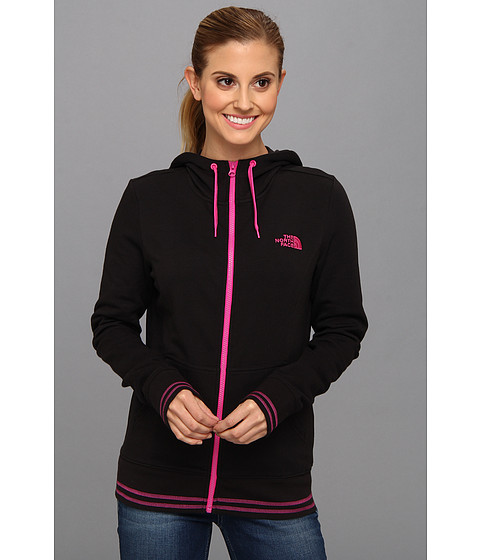 Bluze The North Face - Logo Stretch Full Zip Hoodie - TNF Black/Azalea Pink