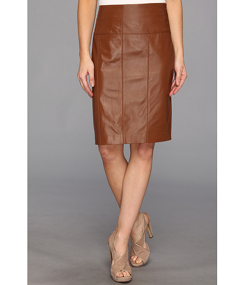 Fuste Vince Camuto - Leather Pencil Skirt - Vicuna