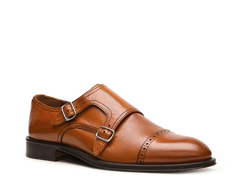 Pantofi Mercanti Fiorentini - Double Monk Slip-On - Cognac