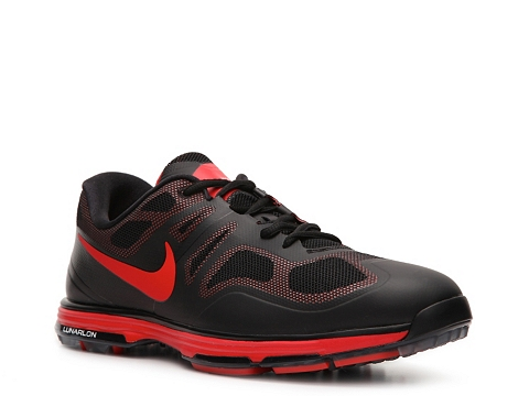 Pantofi Nike Golf - Nike Lunar Ascend II Golf Shoe - Mens - Black/Red