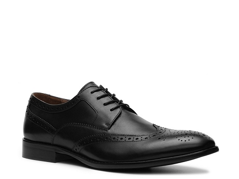 Pantofi Aston Grey - Cross Wingtip Oxford - Black