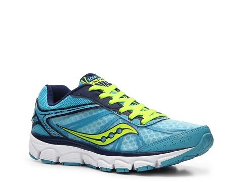 Adidasi Saucony - Grid Mayhem Lightweight Running Shoe - Womens - Blue/Yellow/White