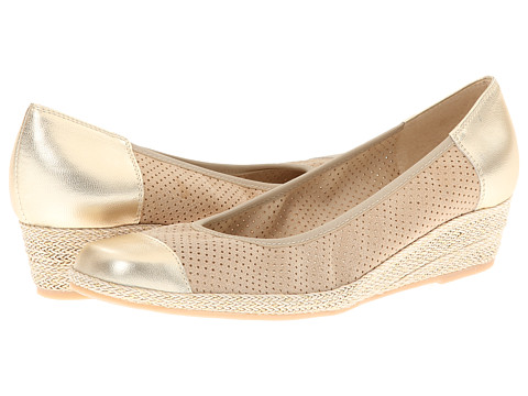 Pantofi Sesto Meucci - Mildee - Bone Betty/Yute Met Nappa/Beige/Gold Rope