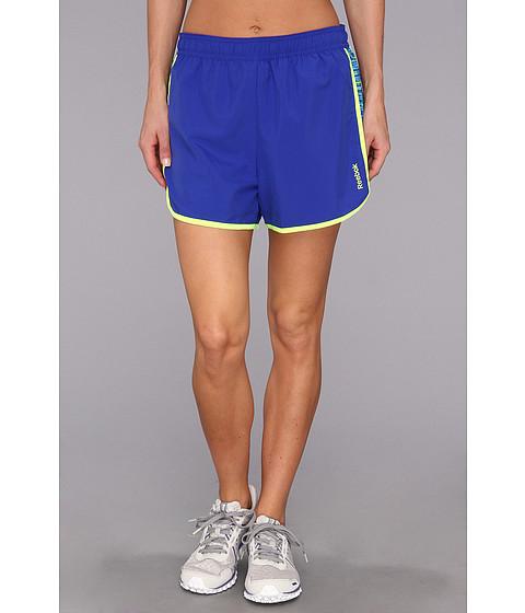 Pantaloni Reebok - Workout Ready Run Short - Blue Move/Blue Move/Neon Yellow