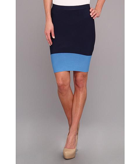 Fuste BCBGMAXAZRIA - Joelle Knit Sweater Skirt - Navy Combo