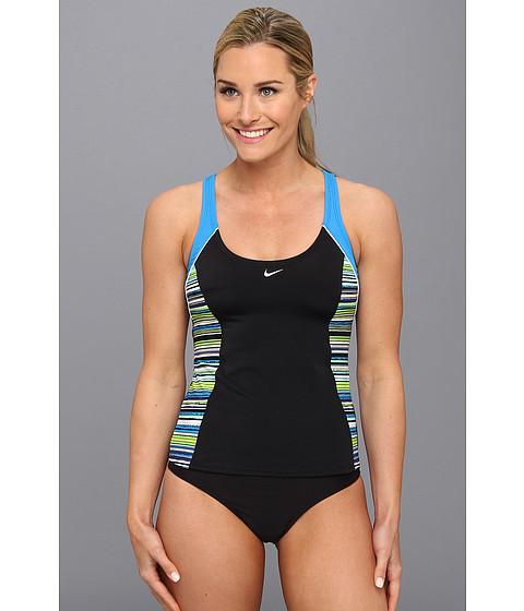 Costume de baie Nike - Vibe Stripe Fast Back Tankini - Photo Blue