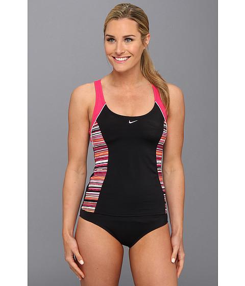 Costume de baie Nike - Vibe Stripe Fast Back Tankini - Pink Force