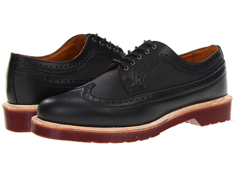 Pantofi Dr. Martens - Alfred Brogue Shoe - Black/Black/Polished Smooth